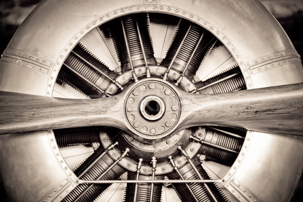 antique aircraft engine Stock photo © nelsonart