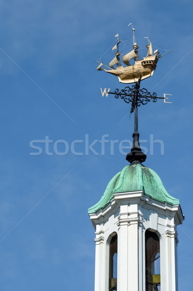 Veleta superior campana torre brújula Foto stock © nelsonart
