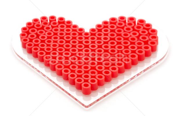 beaded love heart Stock photo © nelsonart