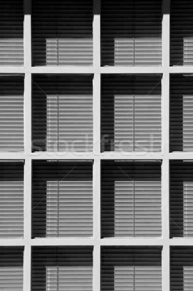Fény árnyék kontraszt mögött fehér fából készült Stock fotó © nelsonart