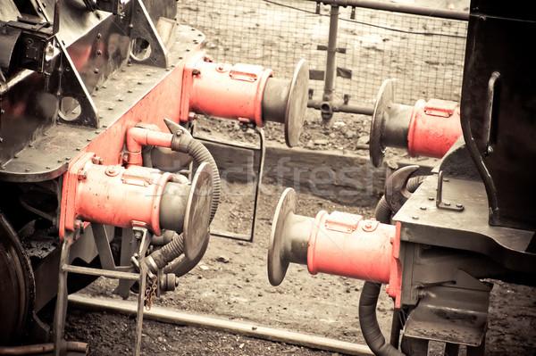 поезд Vintage пар промышленности промышленных Сток-фото © nelsonart