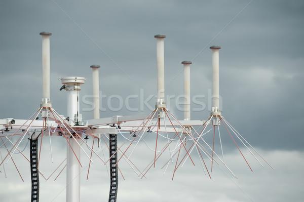 Aviazione radar primo piano pioggia nubi tecnologia Foto d'archivio © nelsonart