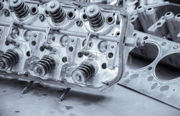 blue toned auto engine Stock photo © nelsonart