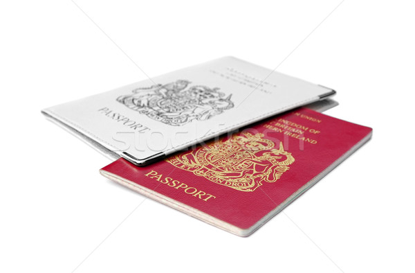 изолированный британский белый безопасности путешествия прав Сток-фото © nelsonart