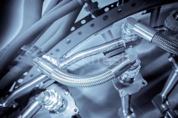 Hidraulikus csövek használt légi közlekedés ipar technológia Stock fotó © nelsonart