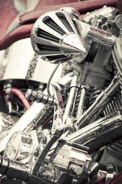 motorcycle chrome Stock photo © nelsonart