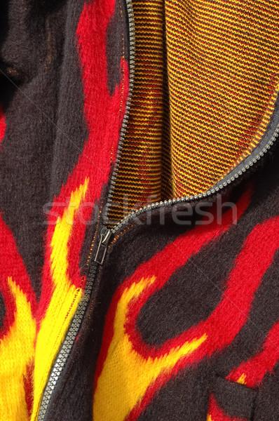 пламени печать одежду аннотация ткань Сток-фото © nelsonart