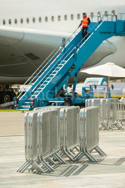 Metal esgrima utilizado control pasajeros Foto stock © nelsonart