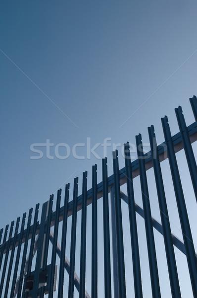 Segurança aço texto espaço azul industrial Foto stock © nelsonart