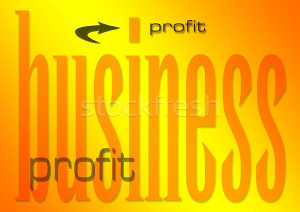 Negocios beneficio ilustración llameante dinero fondo Foto stock © nelsonart