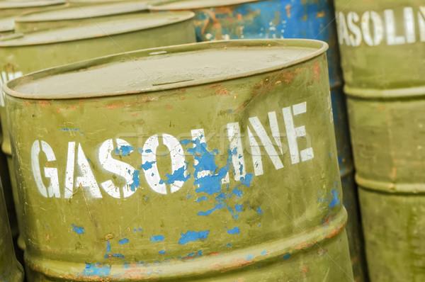 Gázolaj dobok bolt kút használt üzemanyag Stock fotó © nelsonart