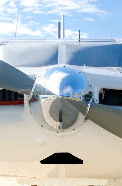 Repülőgép propeller tükröződések fény orr kúp Stock fotó © nelsonart
