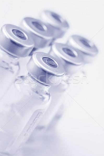 Vacuna botellas vidrio primer plano salud investigación Foto stock © nelsonart