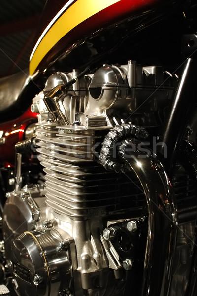 motorcycle engine Stock photo © nelsonart