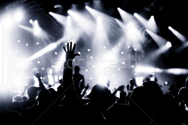 Concert foule vivre musique main Photo stock © nelsonart