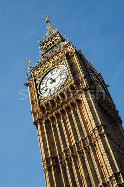 Big Ben luz solar dourado relógio torre Foto stock © nelsonart