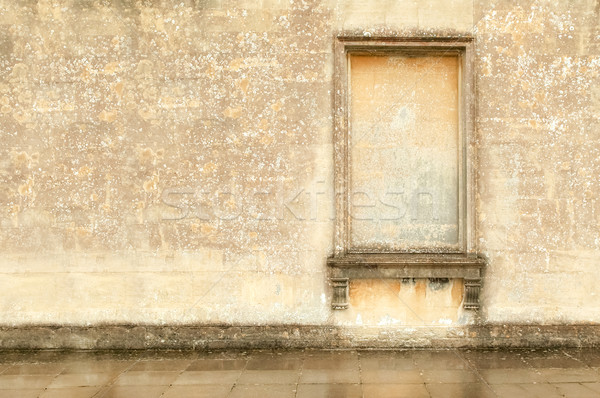 Klasszikus fal kőművesmunka keret építészet nagy Stock fotó © nelsonart