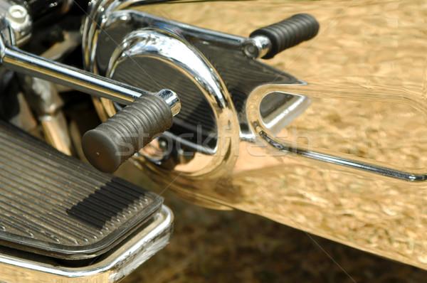 Motosiklet dişli vardiya yansımalar krom makine Stok fotoğraf © nelsonart