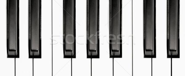 Teclas de piano preto e branco teclado piano chave Foto stock © nelsonart