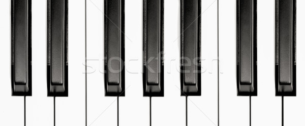Pianotoetsen zwart wit toetsenbord piano sleutel Stockfoto © nelsonart