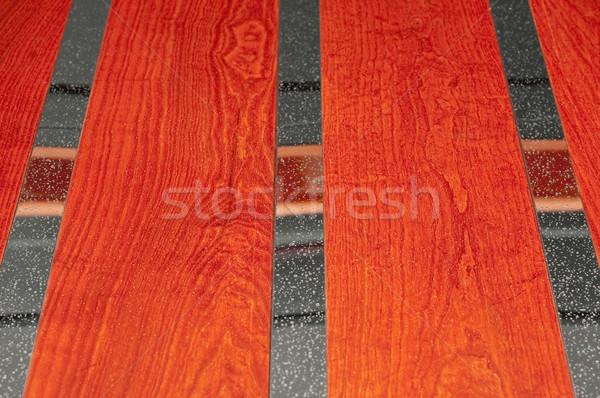 Cromo madeira abstrato metal vermelho Foto stock © nelsonart
