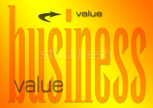 Negócio valor ilustração dinheiro trabalhar compras Foto stock © nelsonart