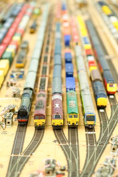 модель поезд коллекция поездов товары игрушками Сток-фото © nelsonart