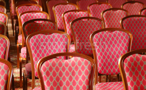 Luxus székek minőség fényűző konferencia helyszín Stock fotó © nelsonart