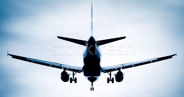 Jet silhouette résumé décollage atterrissage soft Photo stock © nelsonart