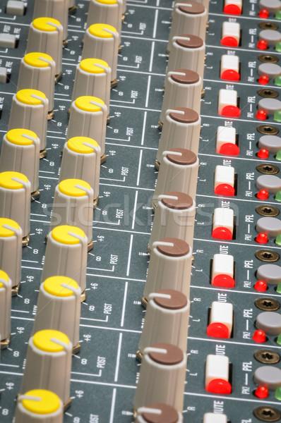 фары музыку технологий столе красный этап Сток-фото © nelsonart