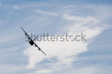 cargo plane silhouette Stock photo © nelsonart