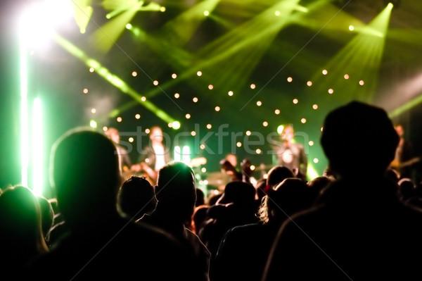 концерта аудитории жить музыку свет Сток-фото © nelsonart