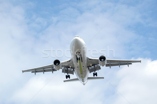 passenger jet landing Stock photo © nelsonart