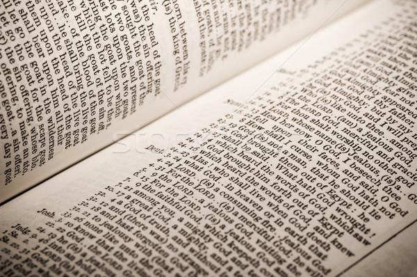 Bíblia lista deus bíblia livro livros Foto stock © nelsonart