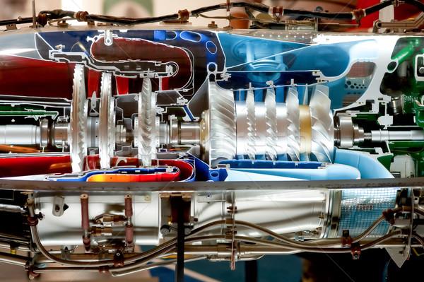 Repülőgép gép színes zsakett részlet technológia Stock fotó © nelsonart