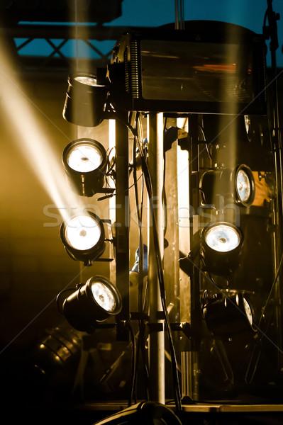 Etapa luces múltiple iluminación luz energía Foto stock © nelsonart