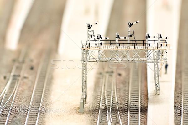 Modell jel vasút sekély mélységélesség vonat Stock fotó © nelsonart