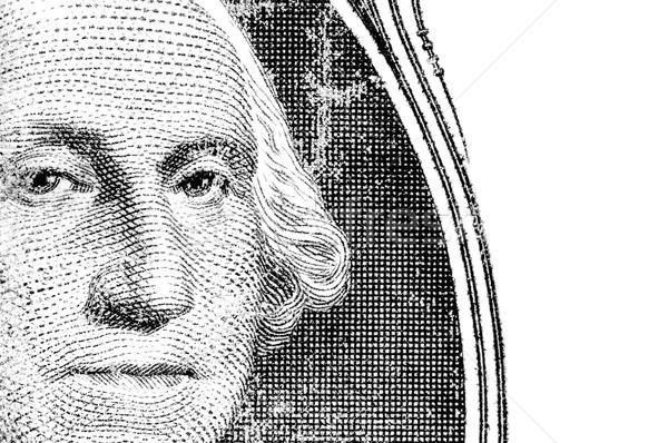 Washington dollár számla portré izolált fehér Stock fotó © nelsonart