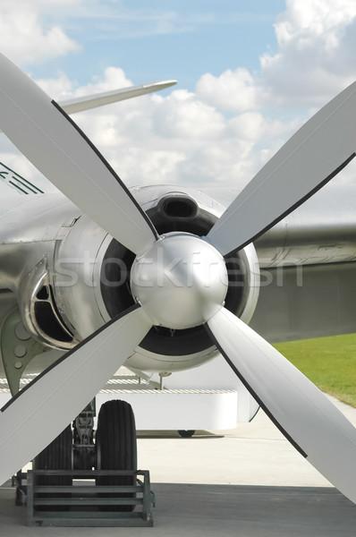 Repülőgép propeller gép klasszikus repülőgép utazás Stock fotó © nelsonart