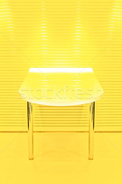 Amarillo mesa resumen dos limón arte Foto stock © nelsonart