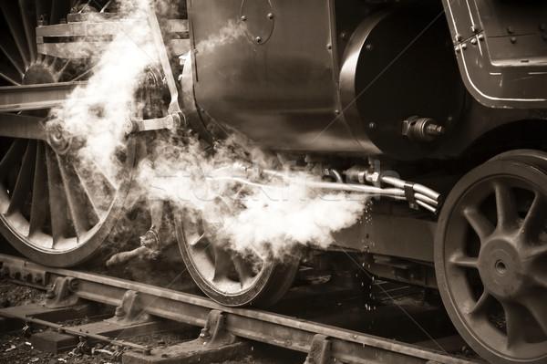 vintage steam train Stock photo © nelsonart