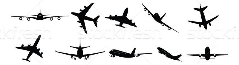 passenger aircraft Stock photo © nelsonart