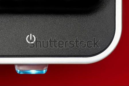 Monitor számítógépmonitor erő gomb megvilágított internet Stock fotó © nelsonart