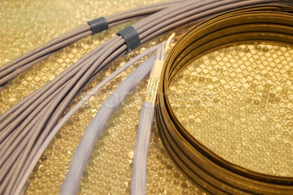 электрические проводов кабелей технологий промышленности Сток-фото © nelsonart