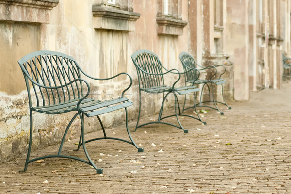 cobbled street seating Stock photo © nelsonart