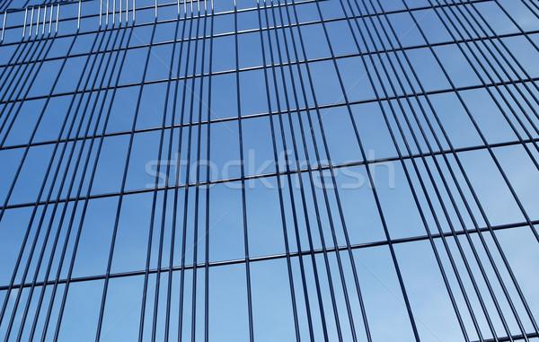 Drutu ogrodzenie tle bezpieczeństwa Błękitne niebo niebo Zdjęcia stock © nelsonart