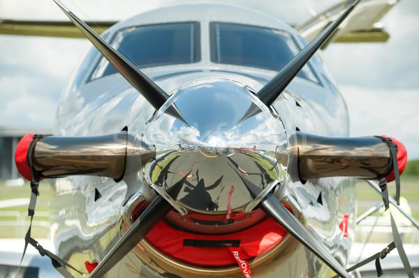航空機 プロペラ 表示 目に見える 金属 ストックフォト © nelsonart