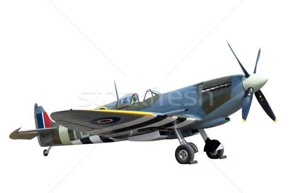 Isolé lutteur avion blanche guerre avion Photo stock © nelsonart