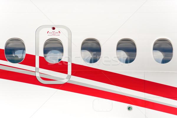 Emergência sair porta fuselagem janela avião Foto stock © nelsonart