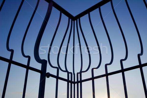 Villa puesta de sol mediterráneo cielo verano azul Foto stock © nelsonart
